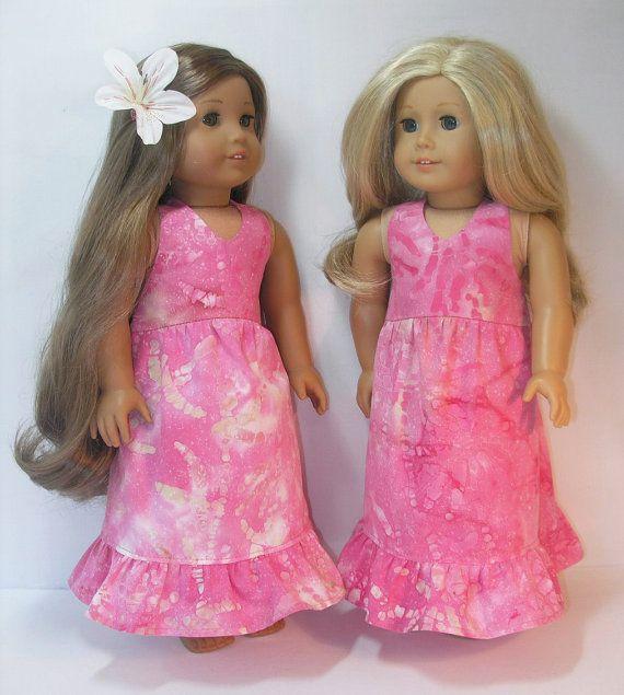 1654 Kanani Hawaiin Dress American Girl 18 Inch by terristouch, $19.00