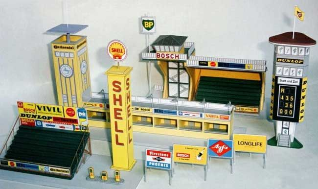 Here Are Some Race Track Building Paper Models Created By