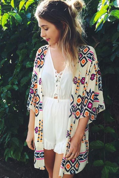 Trendy Geometry Print Beach Kimono LB-L38245 | Shop this product here: spree.to/aeem | Shop all of our products at http://spreesy.com/Amfieldseth    | Pinterest selling powered by Spreesy.com