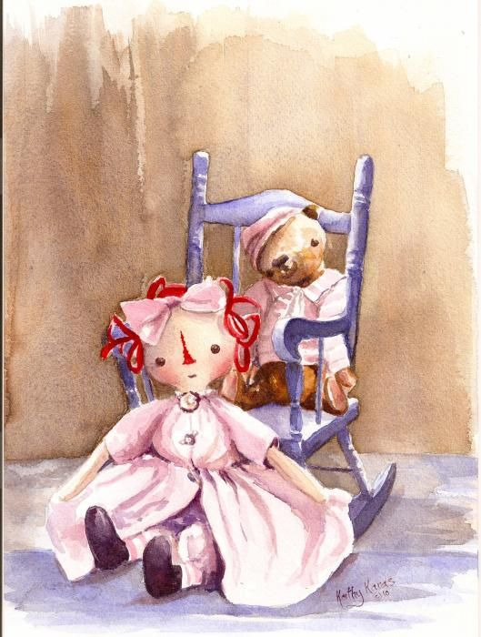Memories Of Childhood Painting by Kathy Karas - Memories Of Childhood Fine Art Prints and Posters for Sale