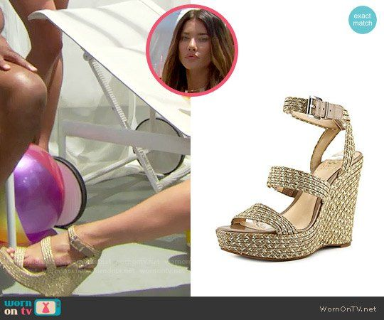 Steffy's wedges on The Bold and the Beautiful.  Outfit Details: https://wornontv.net/73526/ #TheBoldandtheBeautiful