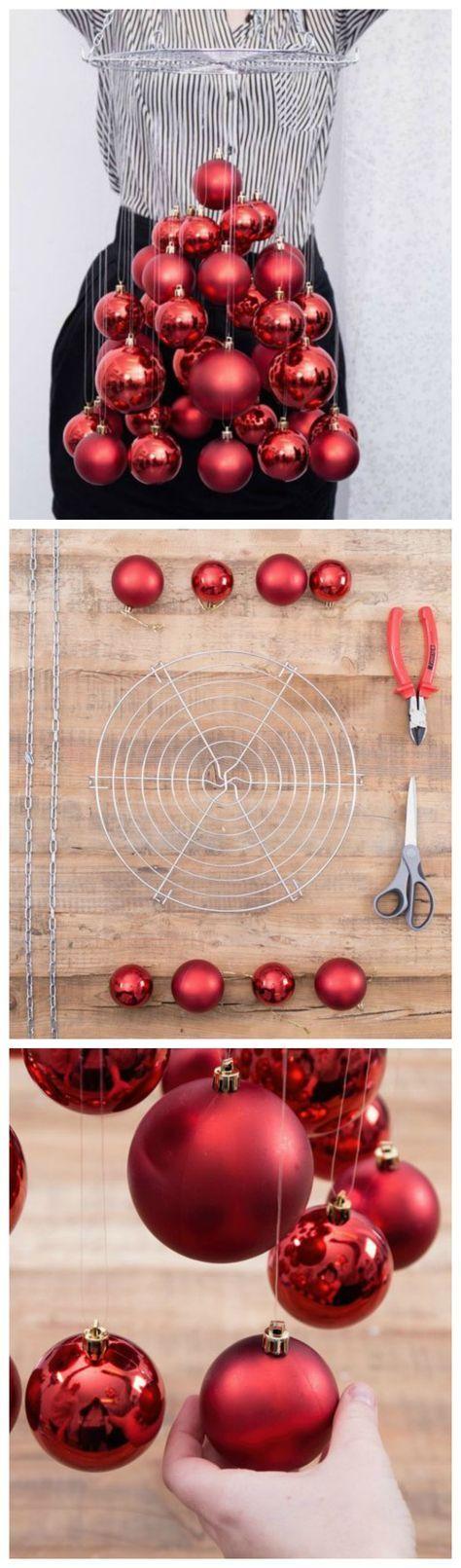 Kostenlose Anleitung: Coole Alternative für den Tannenbaum, schwebender Weihnachtsbaum / free diy christmas tutorial: how to make a hanging christmas tree via DaWanda.com