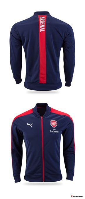 1c2eb5b3651 Arsenal 2016 17 Home Stadium Jacket from Puma. Christmas gift and stocking  stuffer ideas for the Arsenal FC fan at WorldSoccerShop.com