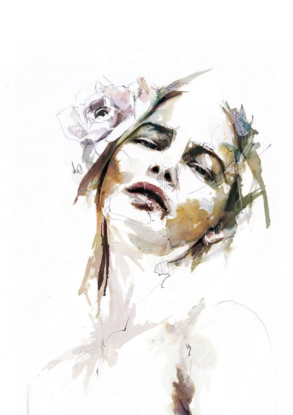 The Work of Florian Nicolle - Watercolour portraits by Florian Nicolle