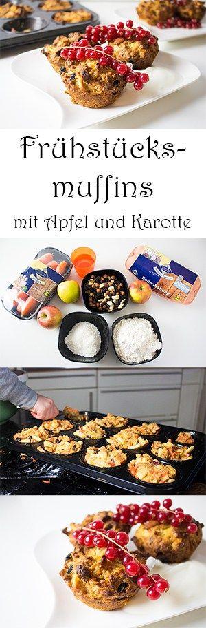 Kochen mit Kindern gesunde Frühstücksideen - Frühstück Muffins mit Apfel und Karotte
