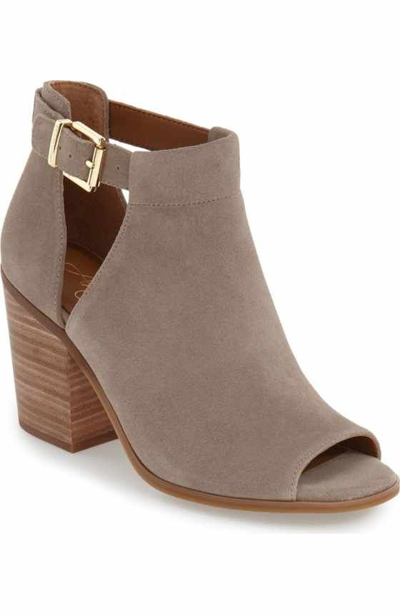 Free shipping and returns on Sole Society 'Ferris' Open Toe Bootie (Women)