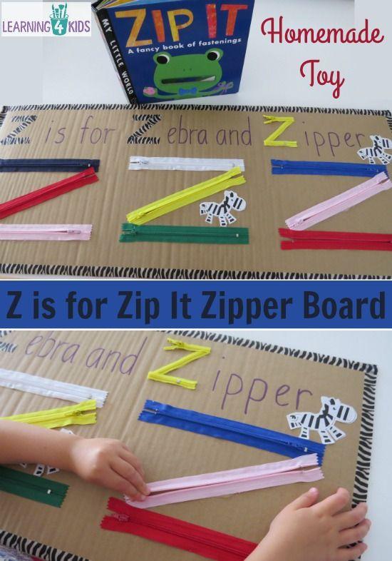 Z Is For Zip It Zipper Board April Preschool Alphabet