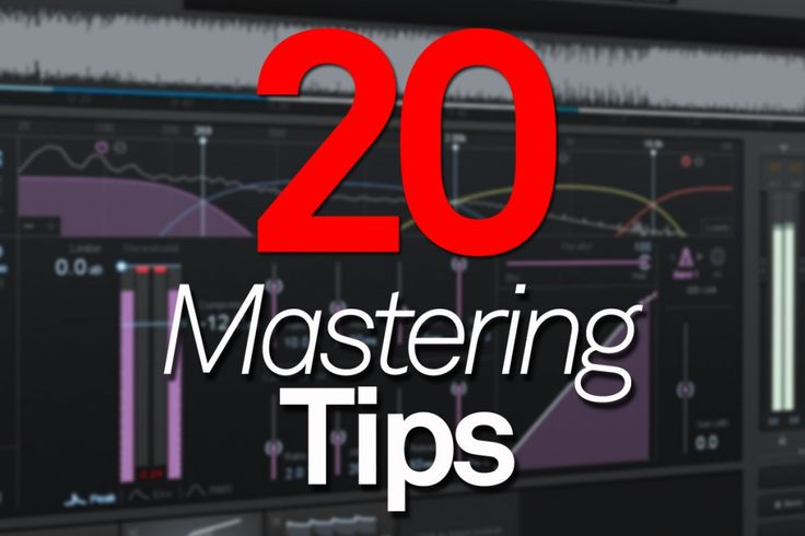 Twenty Mastering Tips - MusicTech | MusicTech - more on www.guitaristica.org #guitartutorials #guitarlessons #guitars #guitaristica