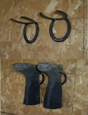Great idea to recycle horse shoes and keep bugs out of boots! This is so smart!!