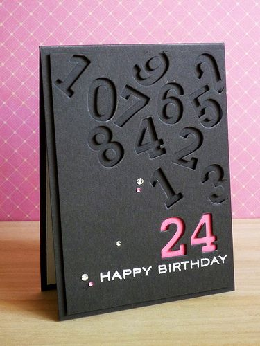 b-day card punch out numbers  Calendars... I have not seen number punches this big before!