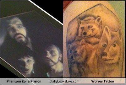 Phantom Zone Prison (Superman) Totally Looks Like Wolves Tattoo