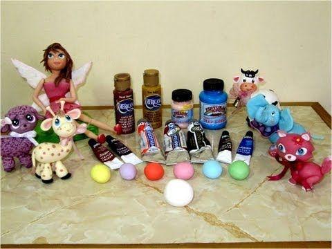 Como teñir y dar color a porcelana fría - YouTube