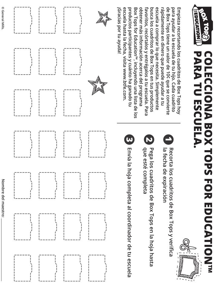 19 best Collection sheets and Box Tops bins images on Pinterest ...