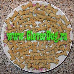 Печенье для собак с печёнкой