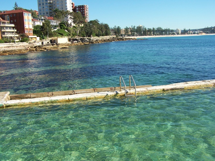 Manly beach australia natural pool sydney pinterest manly sydney swimming and beaches for Natural swimming pool australia