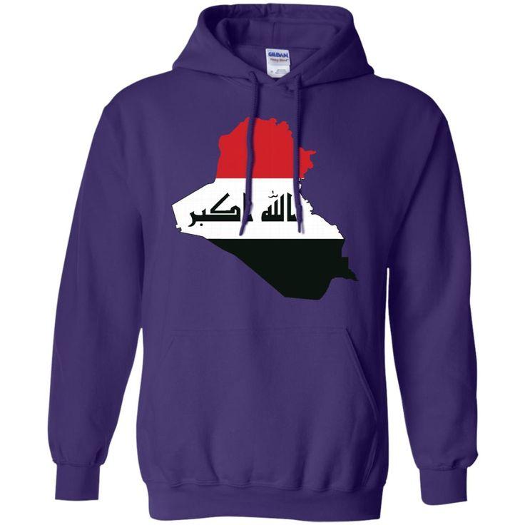 iraq flag-01 G185 Gildan Pullover Hoodie 8 oz.