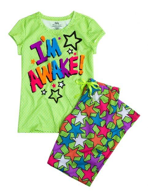 Im Awake Front Back 2 Piece Pajama Set | Girls Sets Pajamas | Shop Justice