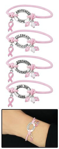 Pink Ribbon Wisdom Bracelet at The Breast Cancer Site https://thebreastcancersite.greatergood.com/store/bcs/site