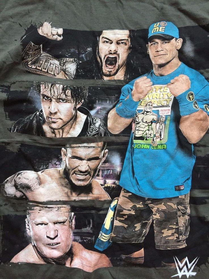 WWE T-Shirt John Cena Roman Reigns Brock Lesnar XL Randy Orton Dean Ambrose WWF - https://bestsellerlist.co.uk/wwe-t-shirt-john-cena-roman-reigns-brock-lesnar-xl-randy-orton-dean-ambrose-wwf/
