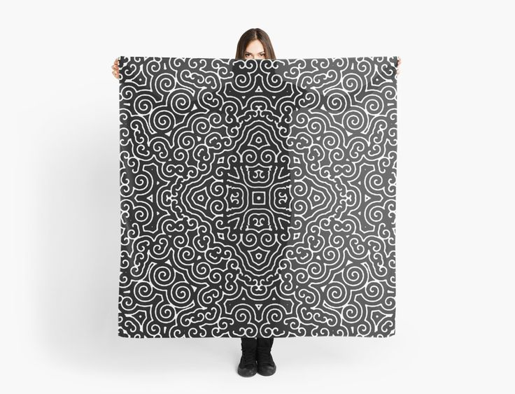 Mystic Black and White Pattern no. 2 scarves, stylish scarf • Also Available as T-Shirts & Hoodies, Men's Apparels, Women's #Apparels, Stickers, iPhone Cases, Samsung Galaxy Cases, Posters, Home Decors, Tote Bags, Pouches, Prints, Cards, Mini Skirts, Scarves, iPad Cases, Laptop Skins, Drawstring Bags, Laptop Sleeves, and Stationeries #shirts #apparel #tops #stylish #design #fashion #designer #clothing #style #accessories
