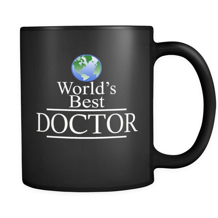 Best Doctor Mug - World's Best Doctor Black ceramic 11 oz mug