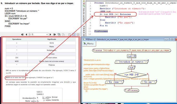 Alumnos Sistemas Galvez: Pract. Proc. de datos I - Ejercicios PSEUDOCODIGO explicados paso a paso