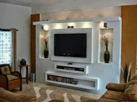 pingl par mestiri laouiti sur staff meuble tv placo. Black Bedroom Furniture Sets. Home Design Ideas