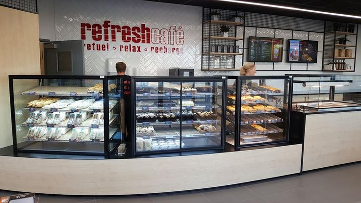Refresh Café - a new grab and go café for NPD's Petrol Stations. (Designed by Redesign Group)