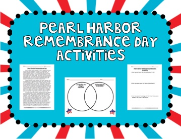 Pearl Harbor Remembrance Day Activities (December 7) product from To-The-Square-Inch on TeachersNotebook.com