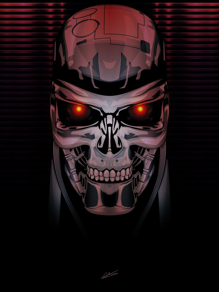 72 best terminator tattoos images on pinterest for Terminator face tattoo