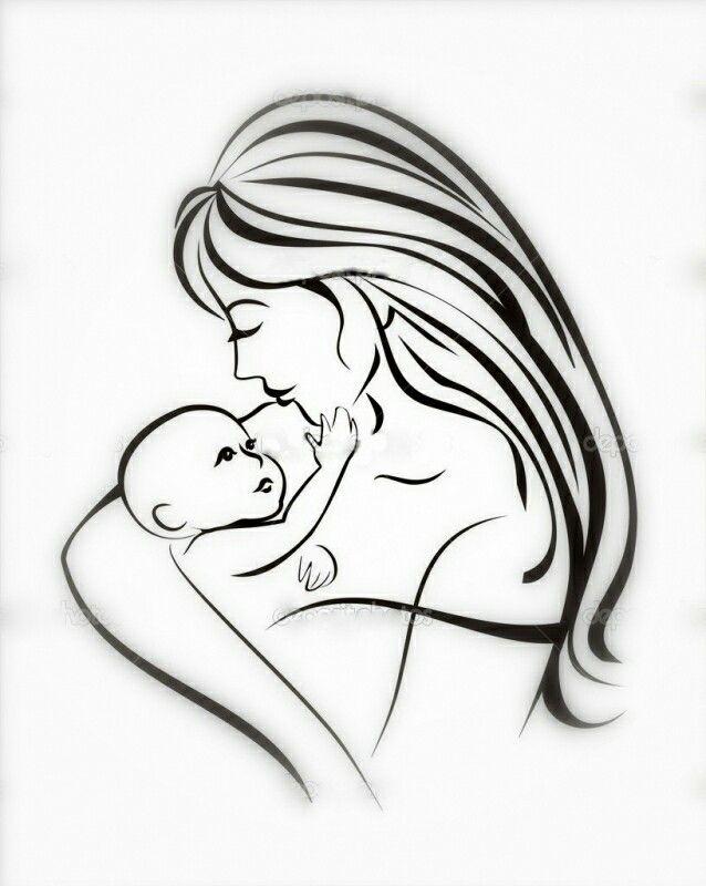 Картинки с днем матери нарисованные