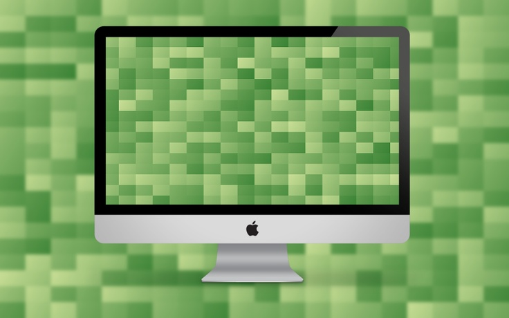 Free Wallpaper Pack – Random Green Blocks