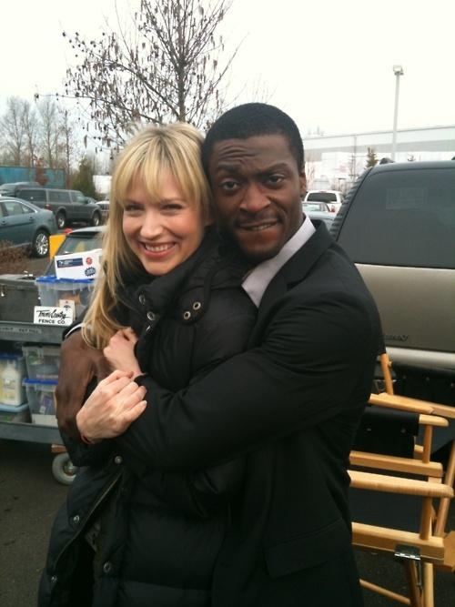 Beth Riesgraf. Aldis Hodge. Leverage.  Awwww! :) Cutest TV couple.
