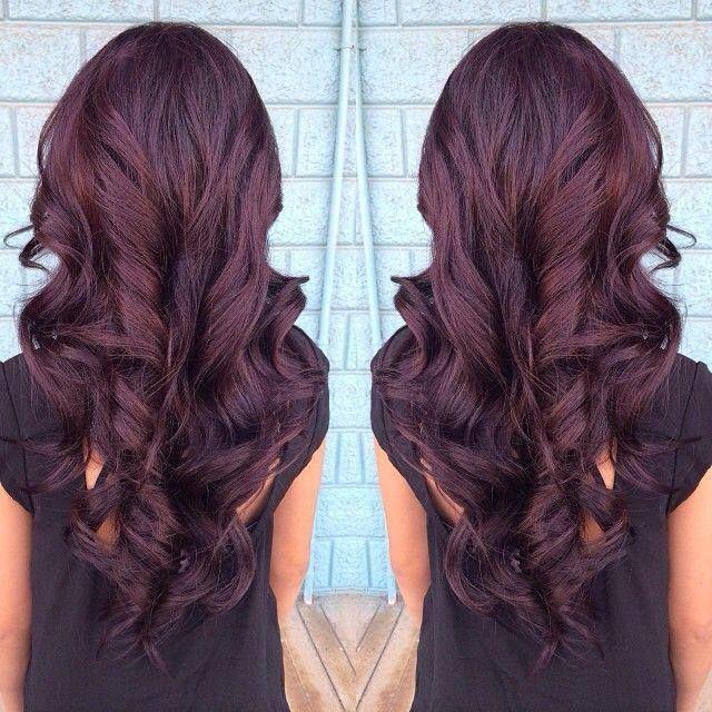 Cheveux marron prune