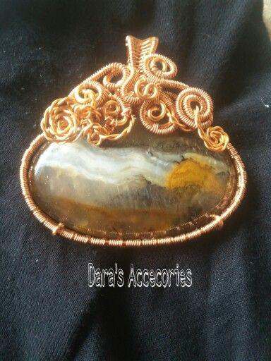 Pendant  #wirejewelry #wirependany #stonependant