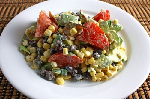 Creamy Avocado and Sweet Corn Salad: Avocado Corn Salsa, Sweets, Corn Salad Recipes, Food, Corn Salads, Corn Salad 3, Recipes Salad, Sweet Corn