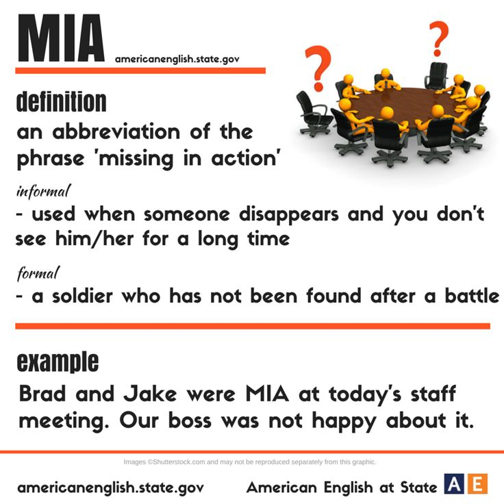 M I A: missing in action