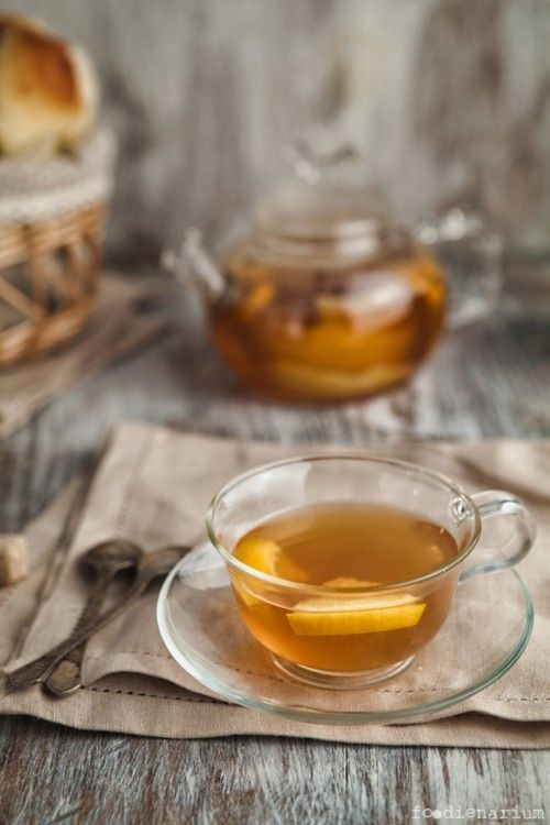 Hot Tea Grog With Lemons And Oranges
