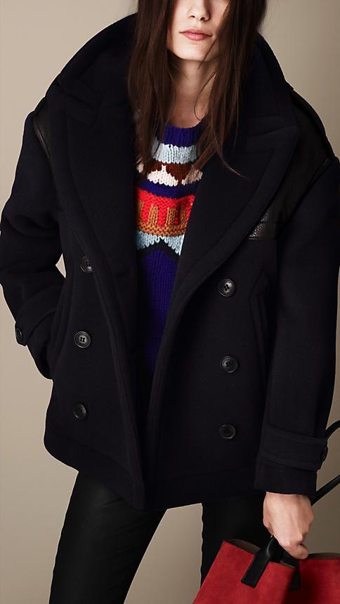 Burberry pea coat women