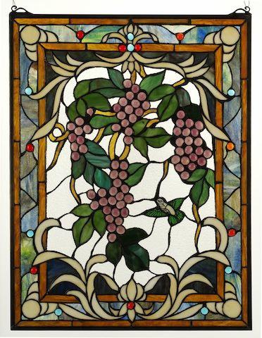 Toscano Grape Harvest stain glass window