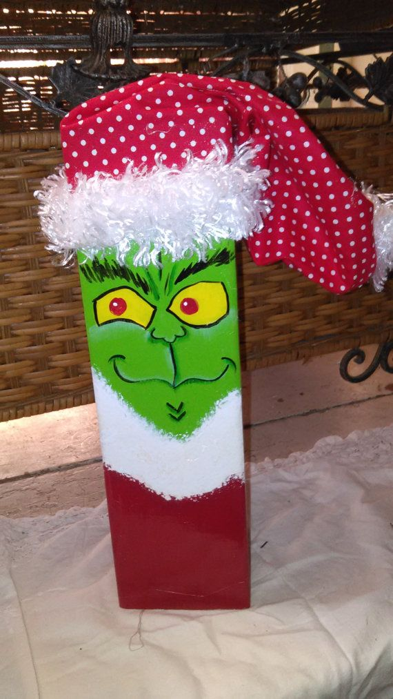 The Grinch 4x4 Post by SinDeesCrafts on Etsy