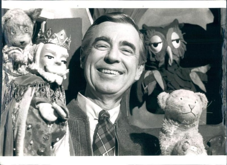 Mister Rogers and his puppets