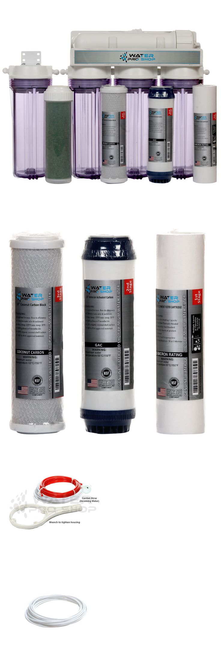Reverse Osmosis and Deionization 77658: 5 Stage Aquarium Reef Reverse Osmosis Water System (Ro/Di) : 100 Gpd | Usa Made BUY IT NOW ONLY: $119.99