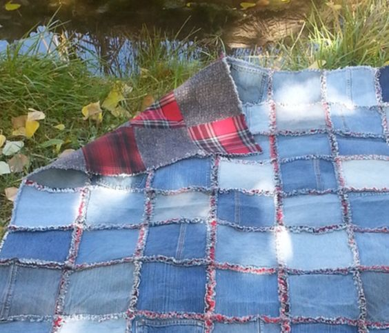 Diy Denim Rag Quilt Instructions Easy Video Tutorial Rag