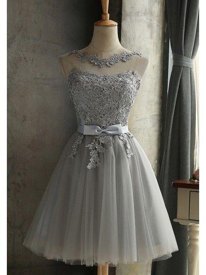 Lace Bow Grenadine Lace-up Bridesmaid Elegant Tutu Homecoming Mini Dress