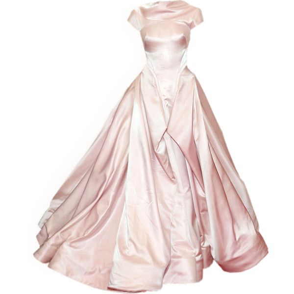 satinee.polyvore.com - Zac Posen gown ❤ liked on Polyvore featuring dresses, gowns, long dress, satinee, zac posen evening dresses, pink ball gown, zac posen, pink evening gowns and long pink dress