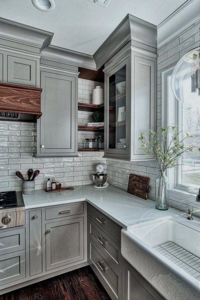 60 Small Kitchen Remodel Ideas 54 Grey Kitchen Designs