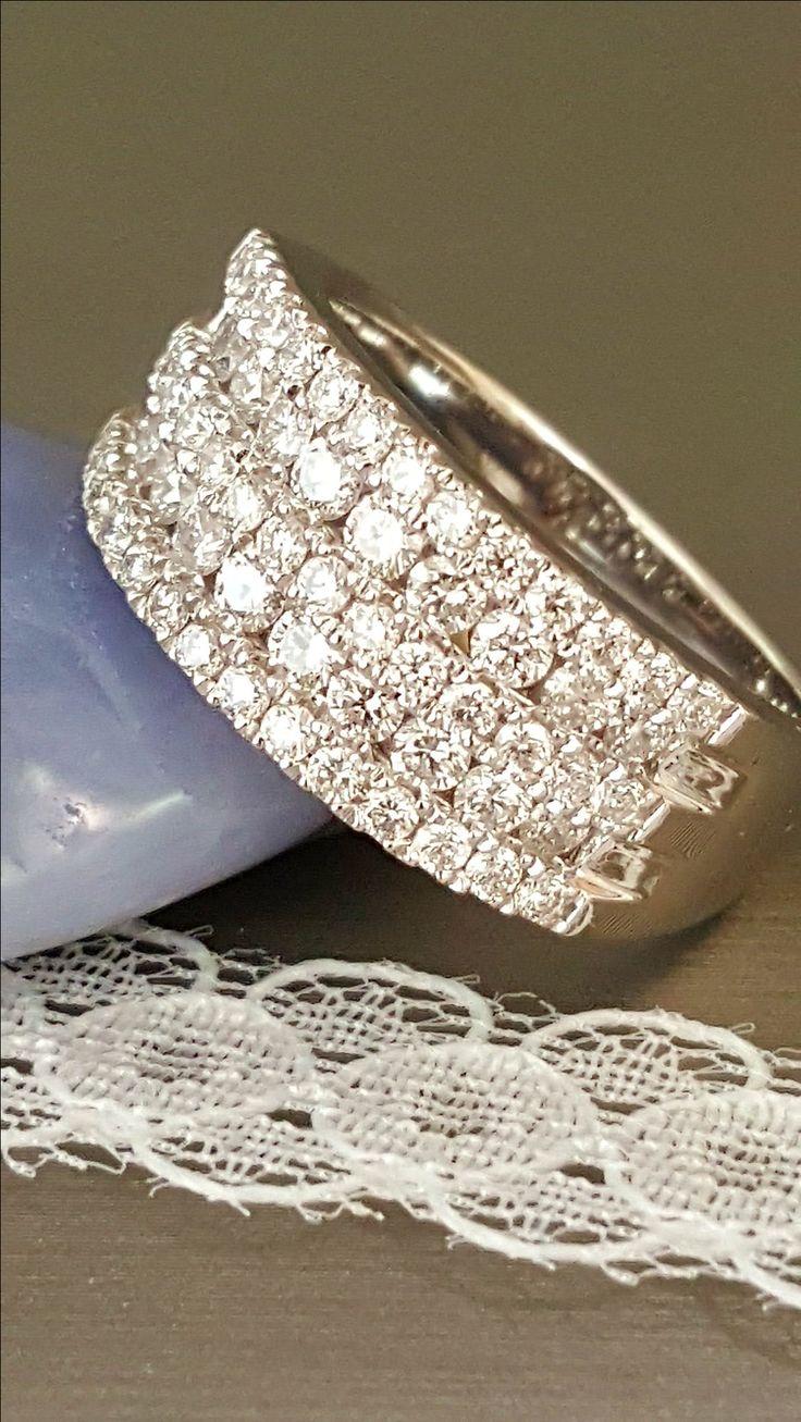 Stunning 5 row 1.15 carats of Diamond set into Platinum.