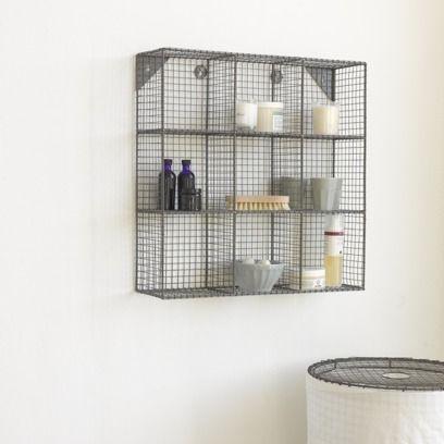 Waffle wall storage with Lavanderie laundry bin