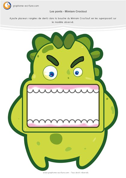 Graphisme MS Les ponts à l'endroit et ponts à l'envers : Croctout aux dents…